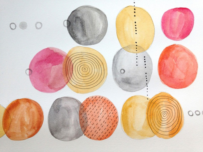 Watercolor and pencil on paper. Abstract. Jane Pellicciotto Artworks, Portland, Oregon