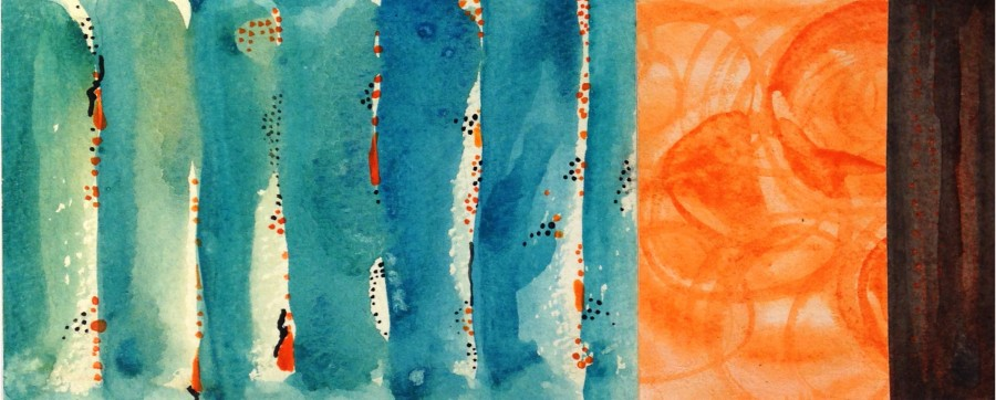 Watercolor on paper. Abstract. Jane Pellicciotto Artworks, Portland, Oregon