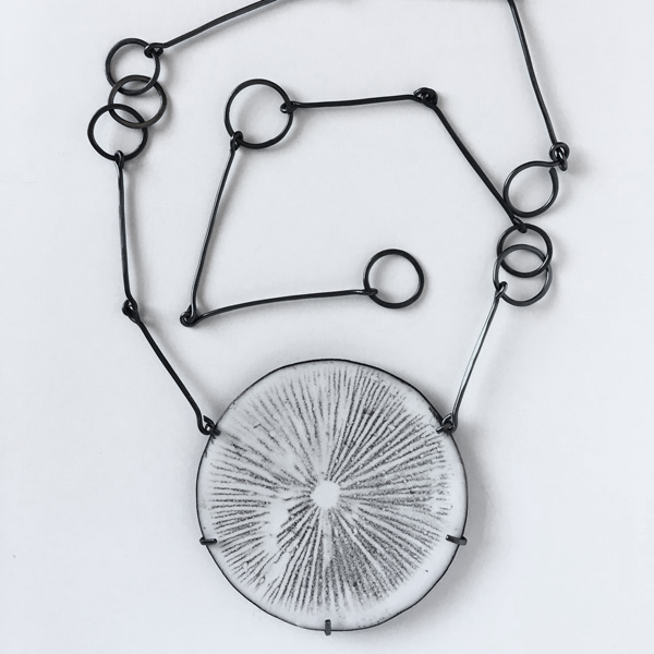 Spore Print Necklace | vitreous enamel on copper and sterling silver. Jane Pellicciotto