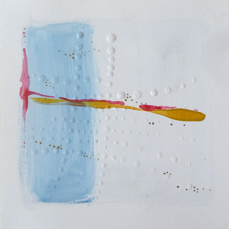 Acrylic and glue dots on paper. Abstract. Jane Pellicciotto Artworks, Portland, Oregon