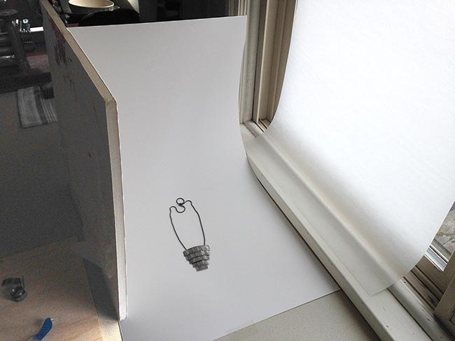 Simple DIY jewelry photography setup