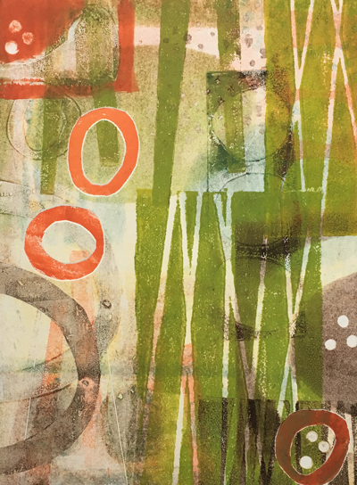 Monoprint by Jane Pellicciotto