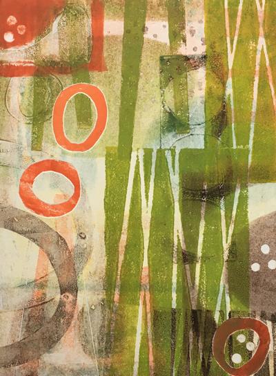 Monoprint by Jane Pellicciotto