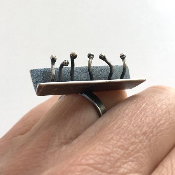 Sprouts ring. Jane Pellicciotto