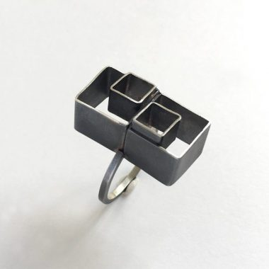 Double nested cube ring. Jane Pellicciotto