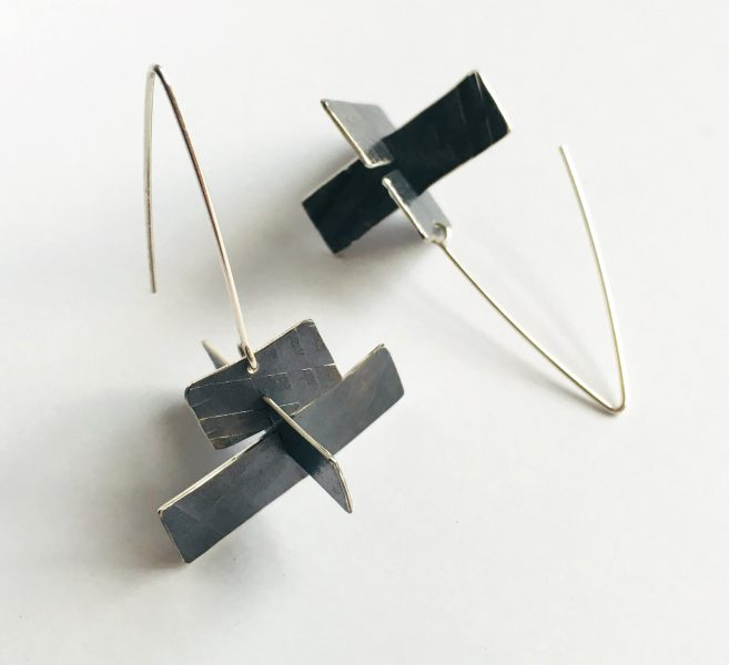 Wayfind Earrings. Sterling silver. Jane Pellicciotto