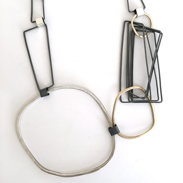 Bolla Necklace | sterling silver and bronze. Jane Pellicciotto