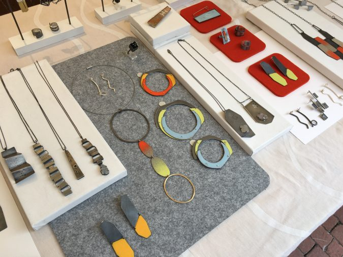 Jewelry display for craft shows. Jane Pellicciotto