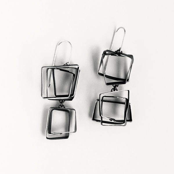 Double Scribble Earrings. Jane Pellicciotto