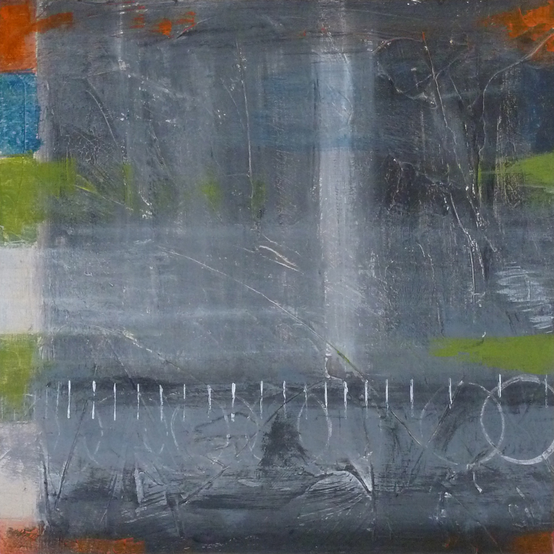 Acrylic on canvas. Gray abstract painting with texture. Jane Pellicciotto Artworks, Portland, Oregon