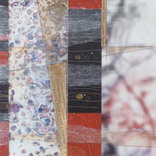 Acrylic, pencil and mixed paper on wood. Jane Pellicciotto. Artworks. Portand, OR
