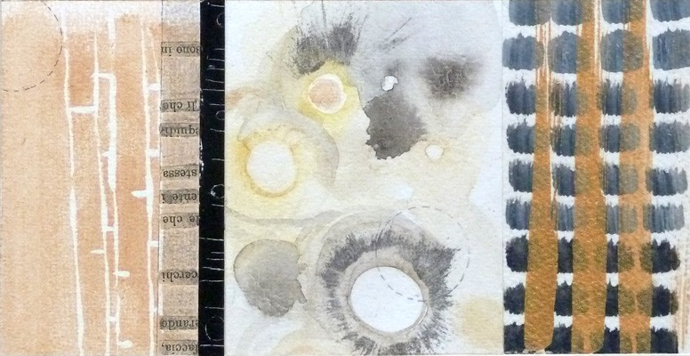 Acrylic, pencil and photo collage. Abstract. Jane Pellicciotto Artworks, Portland, Oregon