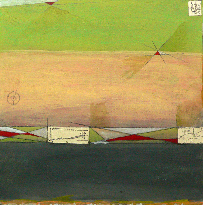 Acrylic and paper on wood. Abstract. Jane Pellicciotto Artworks, Portland, Oregon
