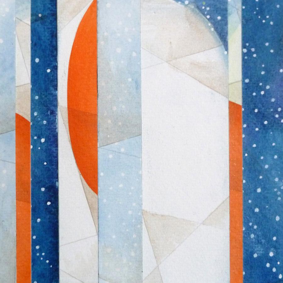 Watercolor and pencil collage. Jane Pellicciotto. Portland, Oregon