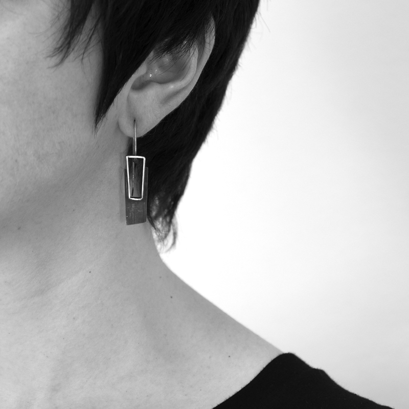 Displace earrings. Sterling silver. Jane Pellicciotto