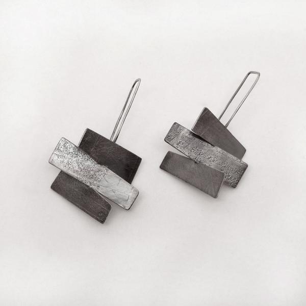 Wayward earrings. Sterling silver. Jane Pellicciotto