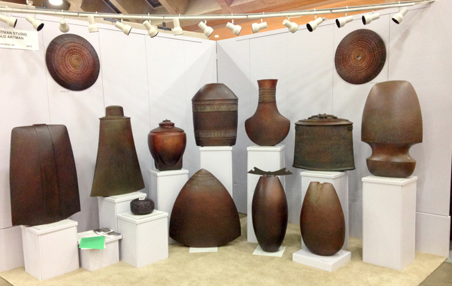 Ron Artman Studio. Ceramics. @craftcouncil Baltimore show