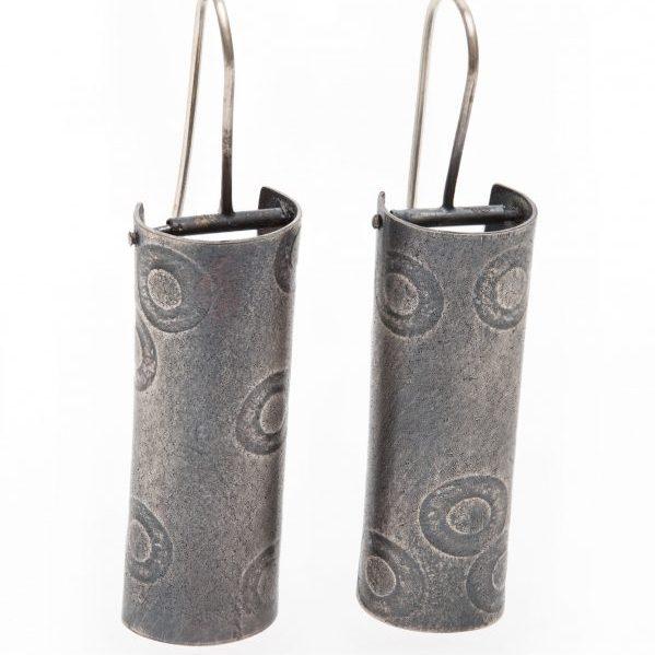 Polkadot column earrings. Jane Pellicciotto