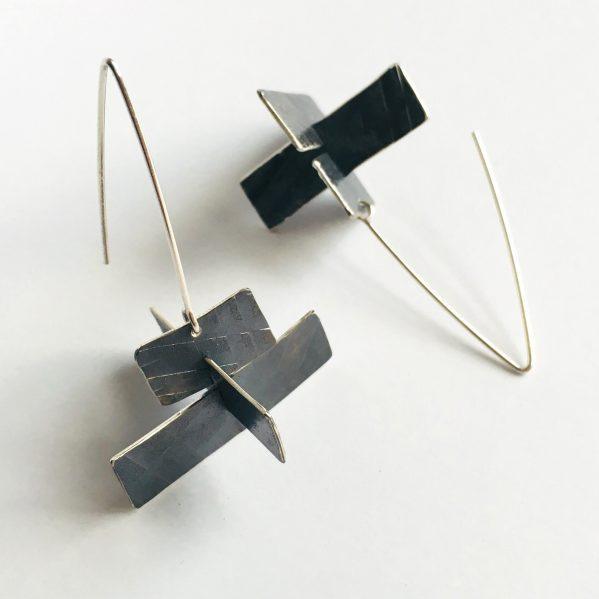 Wayfind Earrings. Sterling silver. Jane Pellicciotto