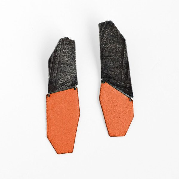 Mezzo Enamel Wedge Earrings. Jane Pellicciotto