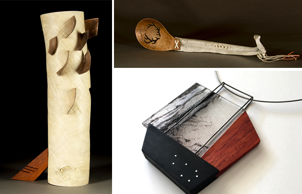 Sculpture and necklace collaborations.