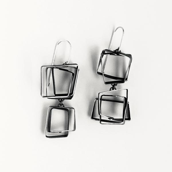 Double Scribble Earrings. Jane Pellicciotto