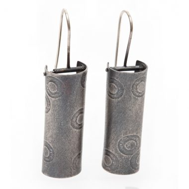 Polka Dot Column hinged earrings. Jane Pellicciotto