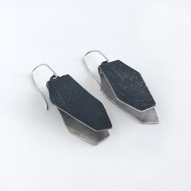 Sterling silver, textured, oxidized earrings. Jane Pellicciotto