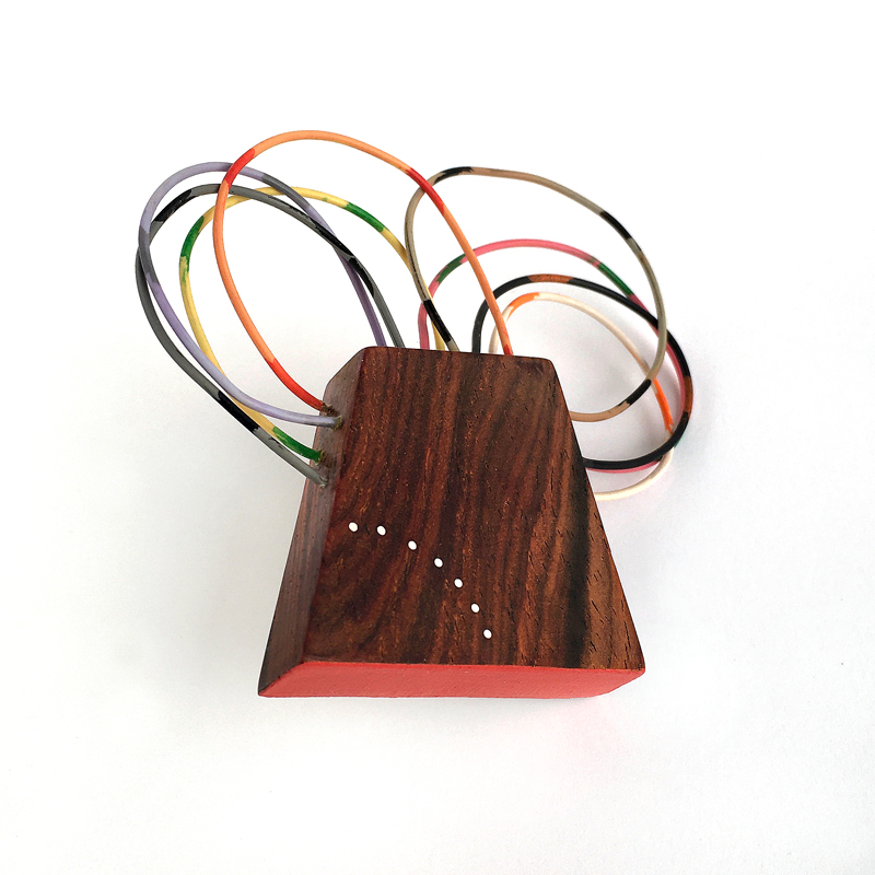 Bug Brooch. wood and vintage electrical wire. Jane Pellicciotto