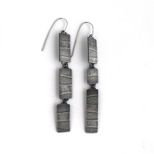 Tidal Trio Drop Earrings. sterling silver. Jane Pellicciotto