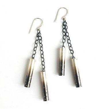 Double luminaria earrings. Jane Pellicciotto