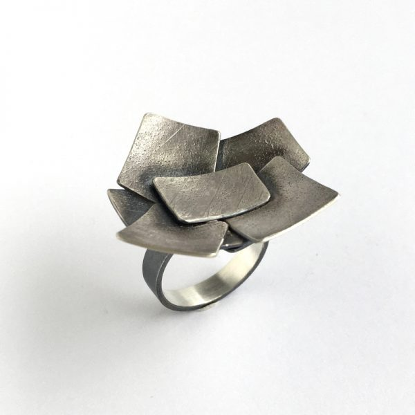 Flutter ring. sterling silver. Jane pPellicciott