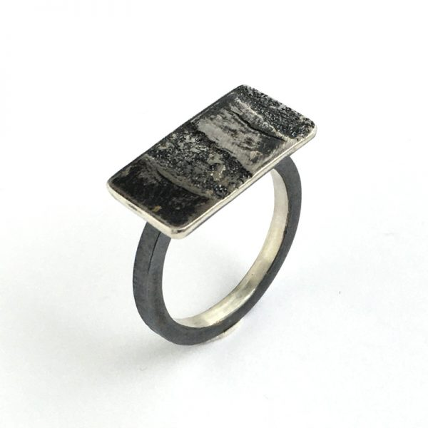 Tidal tile ring. Sterling silver. Jane Pellicciotto
