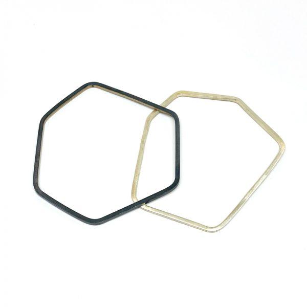 Angle Bangles. sterling silver. Jane Pellicciotto