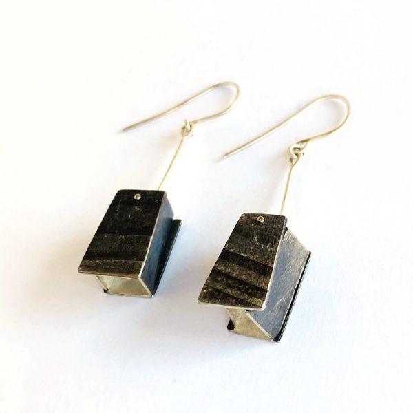 Lantern Earrings. sterling silver. Jane Pellicciotto