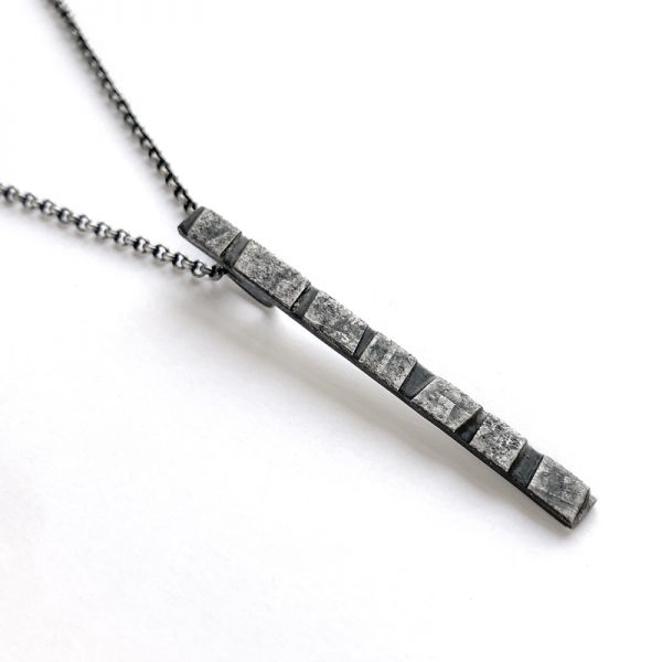 Stepping stone pendant. sterling silver. Jane Pellicciotto