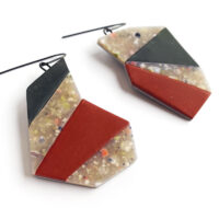Mosaic earrings. Polymer clay and sterling silver. Jane Pellicciotto