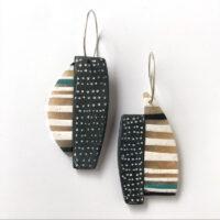 Polymer clay Stratum Earrings. Jane Pellicciotto