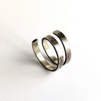 Textured spiral sterling silver ring. Jane Pellicciotto