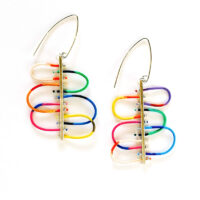 Vintage electrical wire and silver bar earrings. Jane Pellicciotto