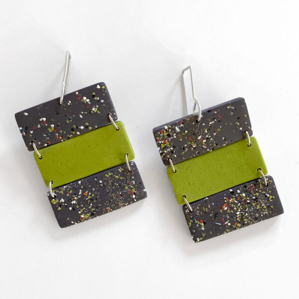 3-Tier Confetti Earrings. Jane Pellicciotto