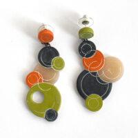 Merging circles earrings. Jane Pellicciotto